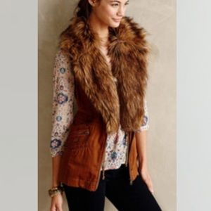 Anthropologie••HEI faux fur vest